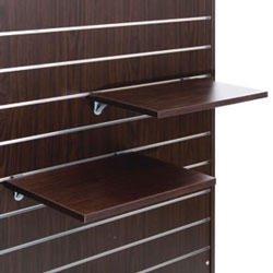 スロットウォール用木棚セットW600×D350 濃茶