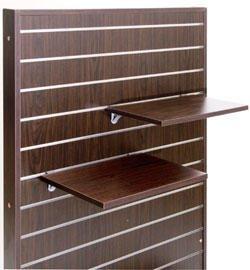 スロットウォール用木棚セットW450×D350 濃茶