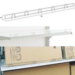 スチール什器 柵用ワイヤーストッパー W900×H30