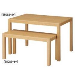 木製ショーテーブル W1500 クリア