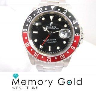 ROLEX ロレックス GMTマスター� Ref16710 U番 正規品 付属あり 美品 現品限り ステンレス 腕時計 A40290