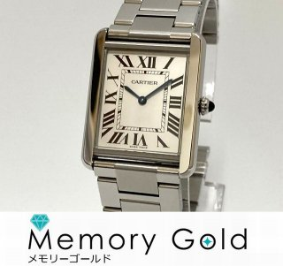 ☆CARTIER カルティエ タンクソロ LM W5200014 美品 クォーツ 腕時計 A50859
