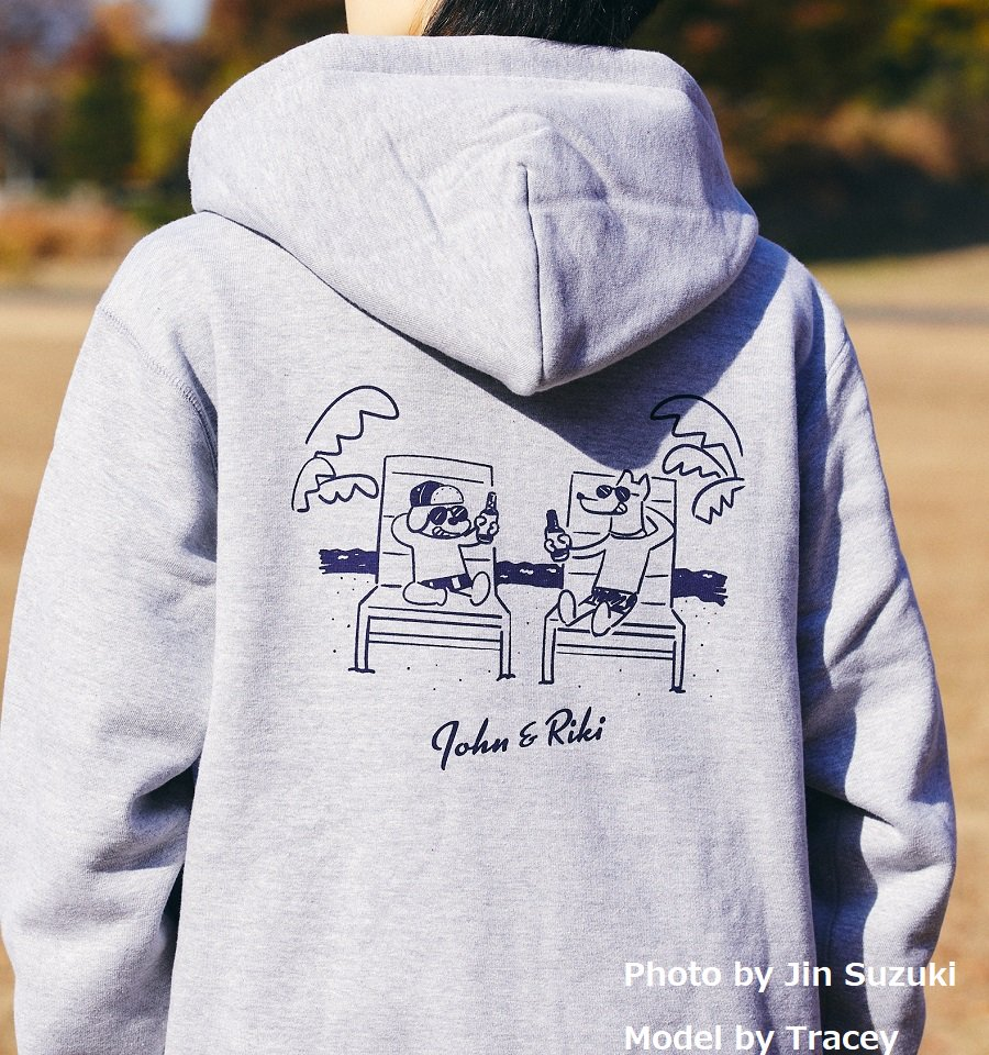John&Riki No.1 Gray[ジップアップパーカー]