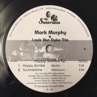 MARK MURPHY&LOUIS VAN DYKE TRIO/HAPPY SAMBA EP