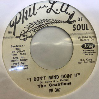 THE COALITIONS/I DON'T MIND DOIN' IT