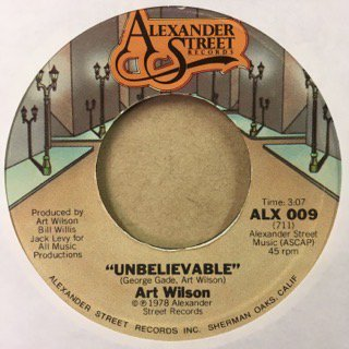Art Wilson/Unbelievable