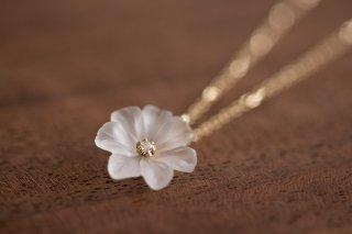 プリムローズ primrose K10 クオーツ ダイヤモンド ネックレス