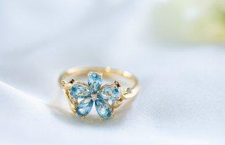ブルースター blue star K10 トパーズ ダイヤモンド リング