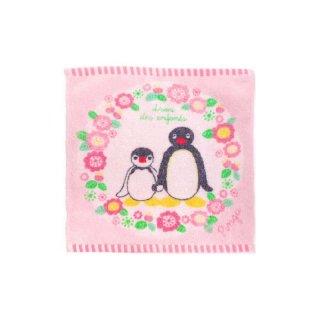 タオルチーフ(フラワーリース)ピンク PG525 PG