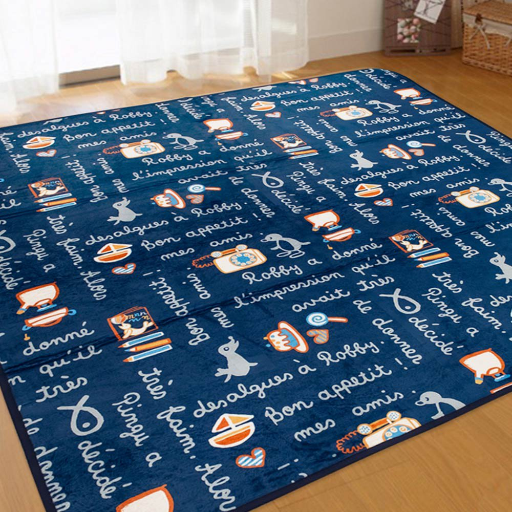 ピングー カフェーピングーラグ(ブルー) 185x185cm 736755 PG