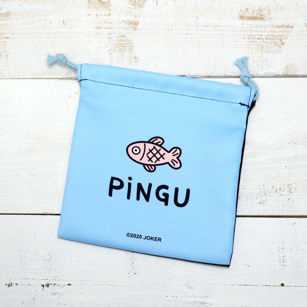 ピングー フラット巾着(ピングー/フェイス)PI-5530085PU PG