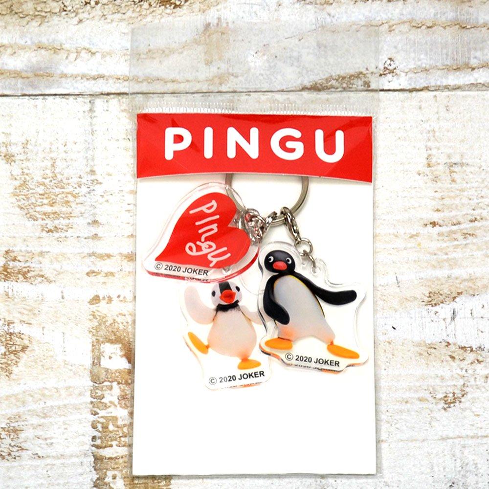 ピングー 3連アクリルキーホルダー(クレイピングー)PNGM-014  PG