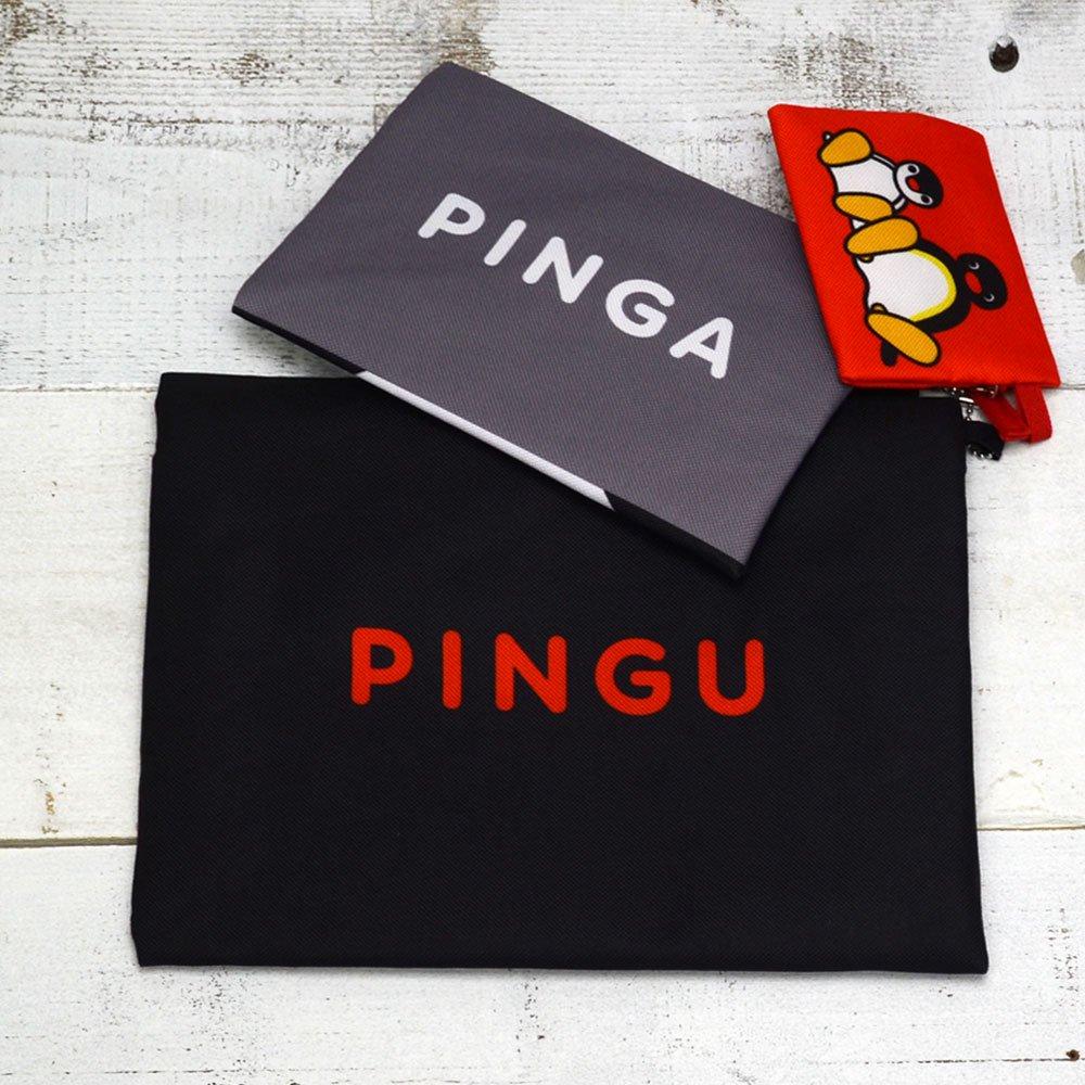 ピングー 3連ポーチ(お顔ピングー)PNGM-019  PG