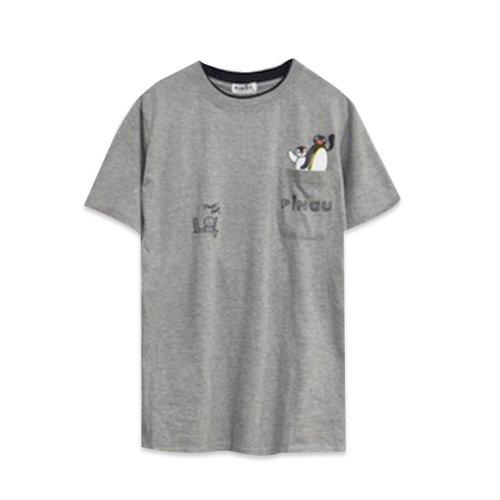 天竺 ポケット付半袖Tシャツ (グレー)L PG1182-506 PG