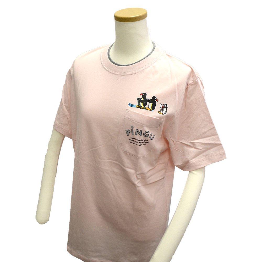 ピングー <img class='new_mark_img1' src='https://img.shop-pro.jp/img/new/icons11.gif' style='border:none;display:inline;margin:0px;padding:0px;width:auto;' />天竺 ポケット付半袖Tシャツ (ピンク)L PG1182-506 PG