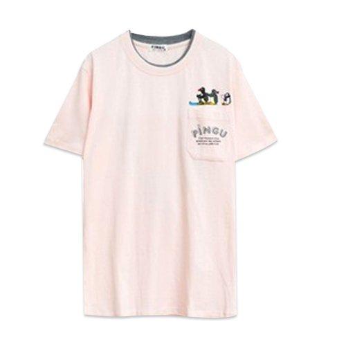 天竺 ポケット付半袖Tシャツ (ピンク)L PG1182-506 PG