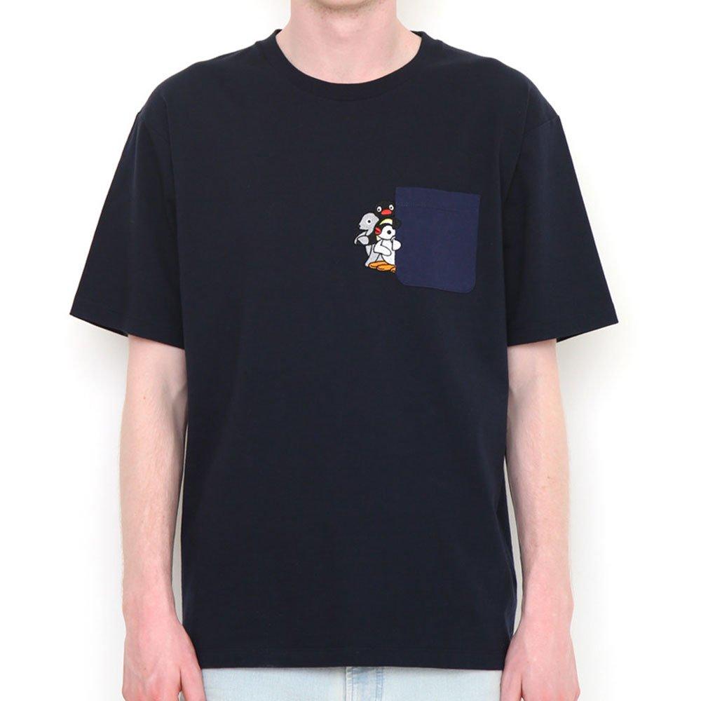 ピングー <img class='new_mark_img1' src='https://img.shop-pro.jp/img/new/icons11.gif' style='border:none;display:inline;margin:0px;padding:0px;width:auto;' />Tシャツ (ピングーポケット)ネイビー XL 018003023 PG
