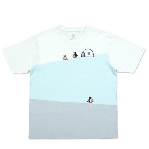 Tシャツ (ピングーフレンズ)ブルー L 018003024 PG