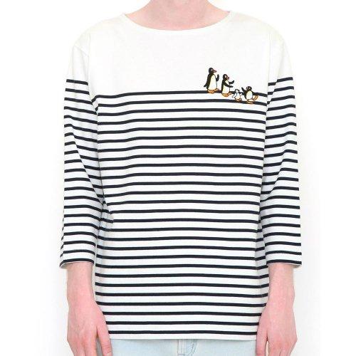<img class='new_mark_img1' src='https://img.shop-pro.jp/img/new/icons11.gif' style='border:none;display:inline;margin:0px;padding:0px;width:auto;' />7分丈Tシャツ (ファミリーボーダー)ホワイト L 008000998 PG