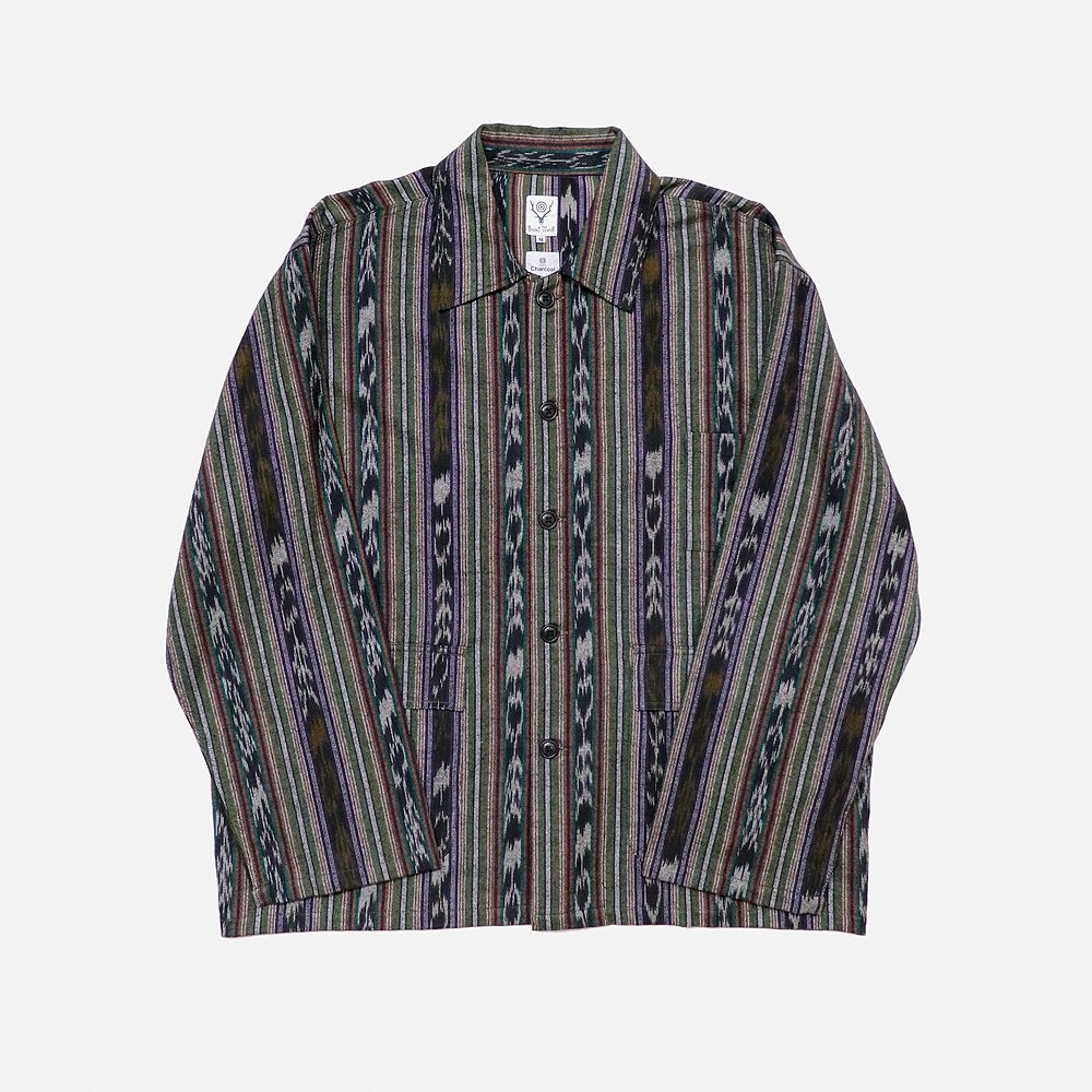 <img class='new_mark_img1' src='https://img.shop-pro.jp/img/new/icons25.gif' style='border:none;display:inline;margin:0px;padding:0px;width:auto;' />S2 Hunting Shirt Ikat