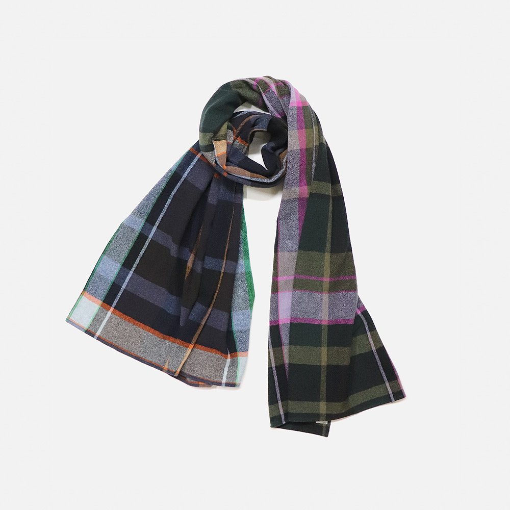 TS Collor Plaid Combi Stole