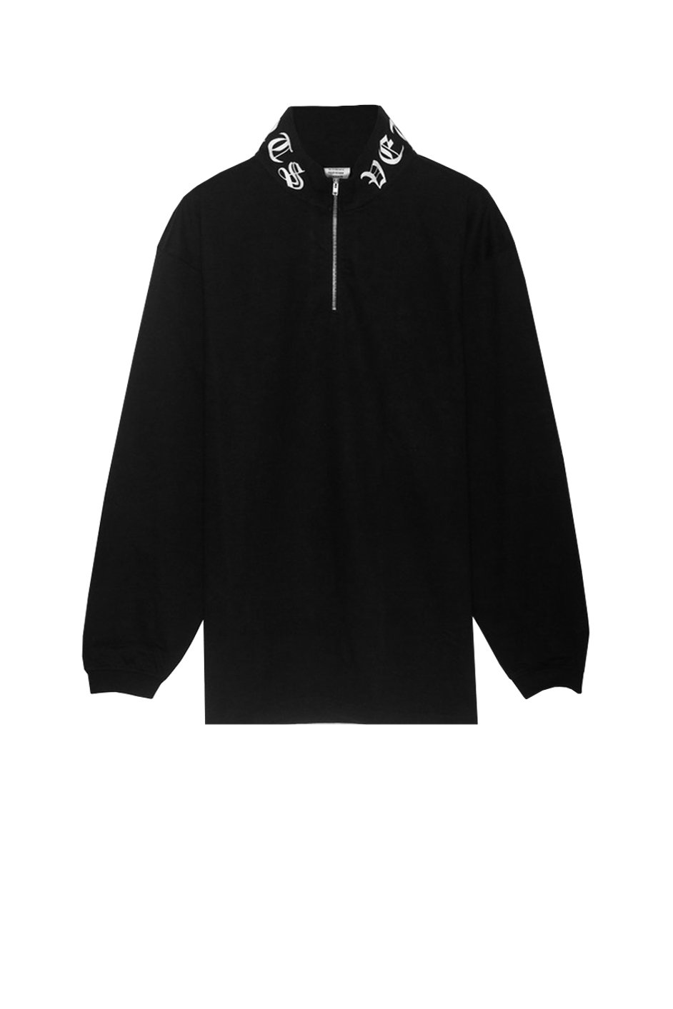 GOTHIC LOGO ZIP TURTLENECK