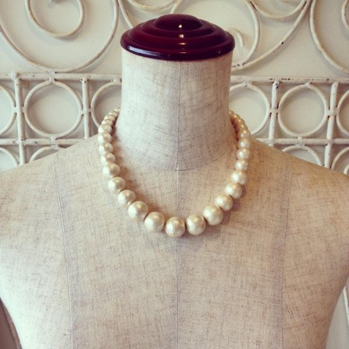 Cotton pearl necklace 10-16mm