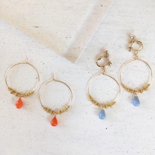 Drop stone hoop pierce