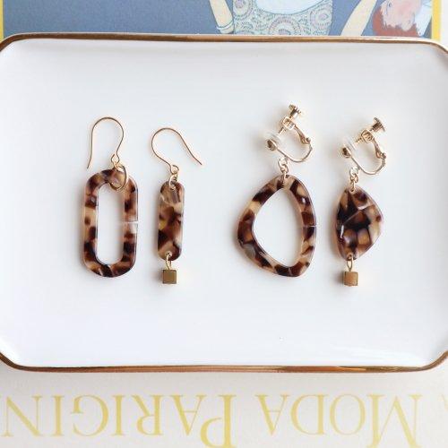 Asymmetry bekko pierce/earring