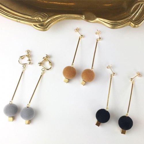 Flocky stick pierce/earring