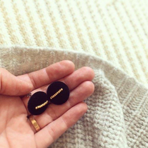 Velvet beads pierce/earring
