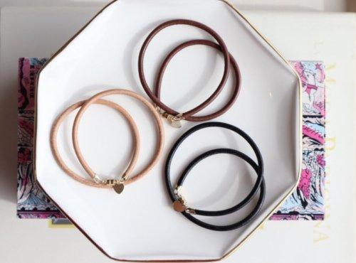 Leather bracelet (ladies W)
