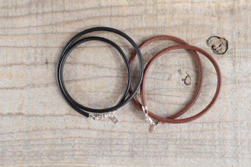 Leather bracelet (men's W)