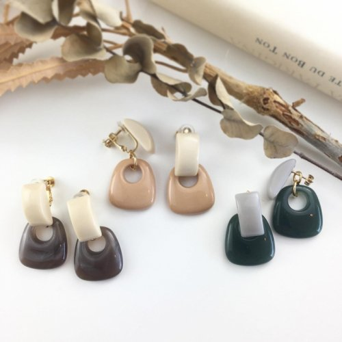 Arch square pierce/earring