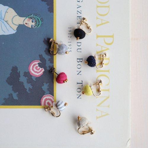 Button pierce/earring(+Beads)
