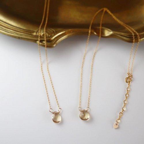 Champagne color quartz necklace
