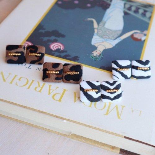Square beads pierce/earring