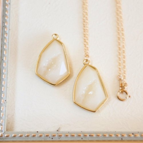 Druzy Marquise necklace
