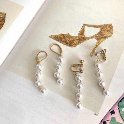 4pearl pierce/Earring
