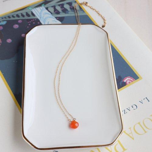Birth stone necklace Carnelian(7月)