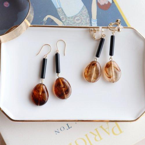 Pebble pierce/earring