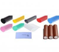 18650バッテリー被膜リラップ用スリーブ 10枚セット販売 PVCシュリンクチューブラップ★18650 Battery Sleeve PVC Heat Shrinkable Tube Wrap