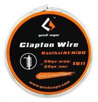 【即納】Geek Vape Atomizer DIY Clapton Wire 26GA Ni80+32GA KA1 15ft★ギークベイプ クラプトン ニクロム80+カンタルA1 ワイヤー