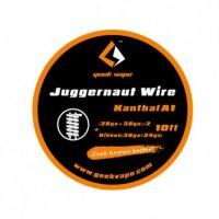 【即納】Geek vape Juggernaut wire {(28ga+38ga)*2+Ribbon(38ga*24ga)*3m} 10ft★ギークベイプ ジャガーノート カンタルA1 ワイヤー