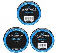 VandyVape Mesh Wire DIY Vape Wires KA1/SS316L/Ni80 5ft★バンディーベイプ メッシュ ワイヤー カンタル/ステンレススチール316L/ニクロム80
