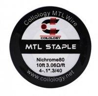 【お取り寄せ★納期 最長 約1ヶ月】Coilology Ni80 MTL Staple Wire 4-.1*.3/40Ga 10ft★コイロロジー ニクロム80 ステイプル ワイヤー 約3m