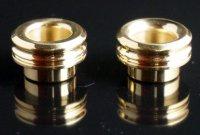 【在庫あり★即納可能】KEMURI PRODUCT製 810 drip tip 2mm ショート Brass(ブラス) ストレートタイプ/テーパータイプ