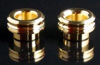 【在庫あり★即納可能】KEMURI PRODUCT製 810スレッド drip tip 2mm ショート ゴールド(24K)ストレートタイプ/テーパータイプ★VAPE用 爆煙型ドリチ ドリップチップ
