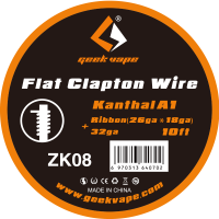 【即納】Geek Vape Kanthal A1 Flat Clapton Wire Ribbon(26ga*18ga)+32GA 10ft 約3m