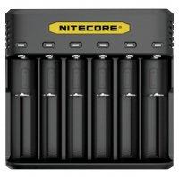 【納期 最長 約1ヶ月】Nitecore Q6 6 Slots Quick Charger★ナイトコア キューシックス 6本用 リチウムイオンバッテリー 充電器 チャージャー